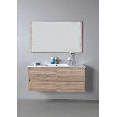 LEO Textured Rural Oak Wood Grain Vanity, Hidden Handle 1200mm