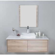 MIA Textured Wood Grain Vanity, Hidden Handle 1200mm