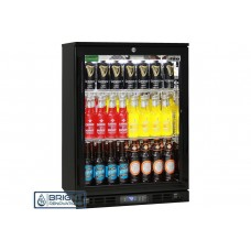 Rhino Black Commercial Glass Door Bar Fridge Energy Efficient