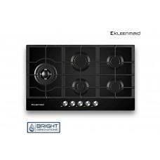Kleenmaid Gas Cooktop With Black Glass Top 900mm GCTK9011