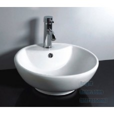 Designer Above Counter Bathroom Vanity Round Bench Top Ceramic Basin Sink 962