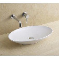 Above Counter Bathroom Vanity Bench Top Ceramic Oval Basin 8346