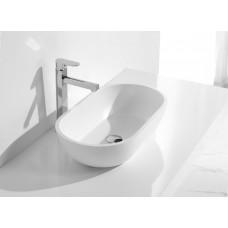 Designer AMALFI SlimLine White SOLID SURFACE STONE Vanity Sink Basin Bowl