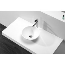 Designer SPRING Round White SOLID SURFACE STONE Vanity Sink Basin Bowl