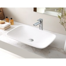 TROPIC SlimLine White Bathroom SOLID SURFACE STONE Vanity Sink Basin Bowl