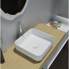 PURA SlimLine White Bathroom SOLID SURFACE STONE Vanity Sink Basin Bowl
