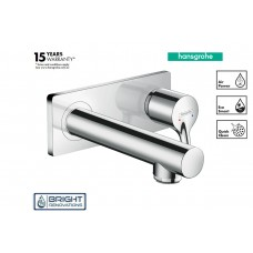 Hansgrohe Talis S Single Lever Basin Mixer Wall-mounted With Spout 16.5 cm