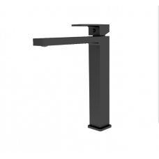Celia MATT BLACK Bathroom WELS Tall Basin Flick Mixer Tap