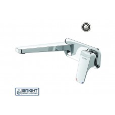 WAIPORI WALL MOUNTED BASIN MIXER WITH PLATE