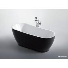 BLACK INGOT Thin Edge Bathroom Freestanding Acrylic Slim BathTub 1700MM