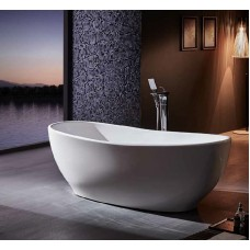 Designer 1500MM&1700MM SPIRIT Thin Edge Bathroom Round Oval Stand Alone Acrylic BathTub