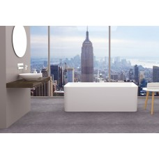 ARIEL Back To Wall/Corner Bathroom Stand Alone Acrylic BathTub -1700MM