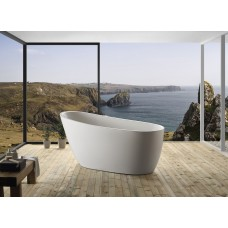Pearl 1500 Thin Edge Bathroom Round Oval Freestanding Acrylic BathTub