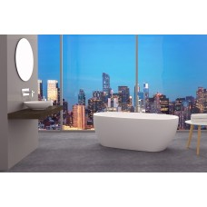 DORY Thin Edge Bathroom Round Oval FreeStanding Acrylic BathTub 1500MM&1700MM
