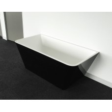 STARFISH BLACK BACK TO WALL Bathroom Square Freestanding Acrylic BathTub-1500MM&1700MM