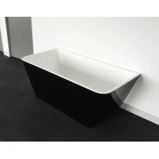 STARFISH BLACK BACK TO WALL Bathroom Square Freestanding Acrylic BathTub-1500MM&1700MM