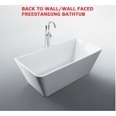 STARFISH Back To Wall/Wall Faced Bathroom Freestanding Acrylic BathTub -1500MM, 1600MM & 1700MM
