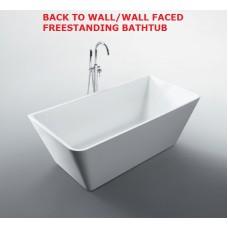 STARFISH Back To Wall/Wall Faced Bathroom Freestanding Acrylic BathTub -1500MM, 1600MM & 1700MM