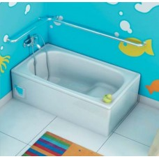 Ultra Compact Enamelled Steel Drop In Bathtub 1050MM OR 1200MM