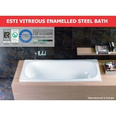 Marbletrend Quality ESTI Enamelled Steel Drop In Bathtub 1500MM