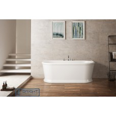 Navagio Provincial Style Back to Wall Free Standing Bath