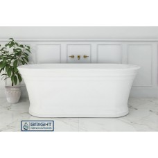 Laguna Freestanding Bath 1700,  Matte White Finish