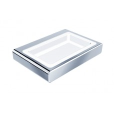 HELLY Brass Chrome Soap Dish