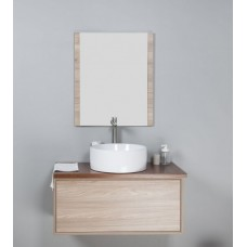 MIA Textured Wood Grain Vanity, Hidden Handle 900mm
