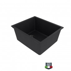 FLINDERS S380 Undermount Granite Stone Black Kitchen Sink Single Bowl