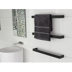 Black Heated Towel Rail