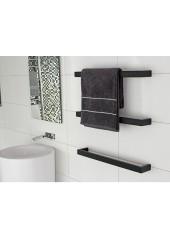 Black Heated Towel Rail (3)