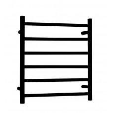 Matt Black Round Heated Towel Rail Ladder Rack 600mm X 800mm,6 Bars