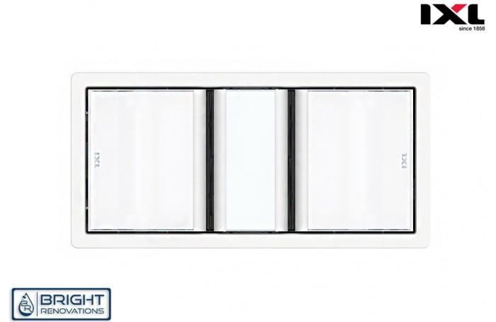IXL Tastic Luminate Dual 3 in 1 Bathroom Heater, Exhaust Fan & Light - White