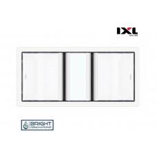 IXL Tastic Luminate Dual 3 in 1 Bathroom Heater, Exhaust Fan & Light - Silver