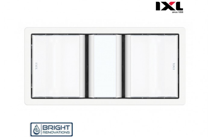 IXL Tastic Luminate Dual 3 in 1 Bathroom Heater, Exhaust Fan & Light - Silver