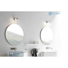 MALTA ROUND Pencil Edge Flat Polish Bathroom Mirror