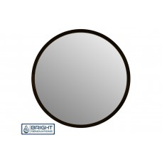 Sylinn Round Mirror with Matte Black Frame 750mm