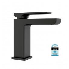 MATT BLACK ASTRA Square Bathroom WELS Basin Flick Mixer Tap