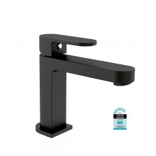 MATT BLACK ECCO Oval Bathroom WELS Vanity Basin Flick Mixer Tap