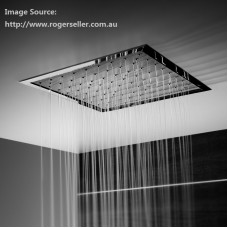 WELS Bathroom SQUARE Ceiling Flush Mounted Shower Head Rose 300MM