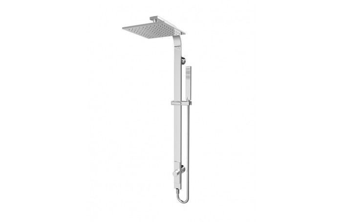 Luxury METRO Bathroom Square Combination Shower Rail Set MULTI-FUNCTION, One Hose