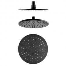 MATT BLACK WELS Bathroom ROUND Rain Thin 200mm Shower Head