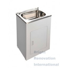 Drop In Stainless Steel Laundry Tub Cabinet 45 Litres