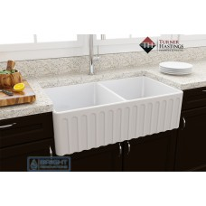 Turner Hastings Novi Fine Fireclay Butler Double Bowl Sink 85 x 46