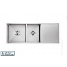Cube Round Corner Undermount/Drop In Kitchen Sink 1&3/4 Bowl Drainer 980