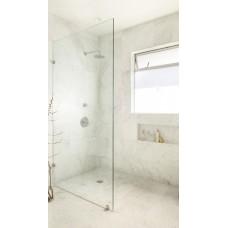 New Single Fixed Frameless Shower Screen Panel 10mm Toughen Glass 1000x2000