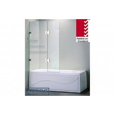 Frameless OverBath Shower Screen Fixed Panel 10mm Toughen Glass 900 x1450