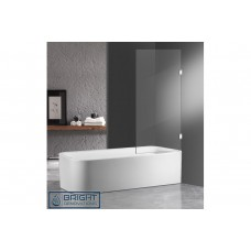 Frameless OverBath Shower Screen Fixed Panel 10mm Toughen Glass 800x1500