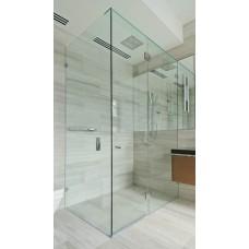 800MM Frameless Shower Screen with 10mm Toughen Glass Panels