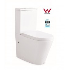 Compact COOGEE Rimless Ceramic Wall Faced Toilet, Soft Close Seat, Power Flush